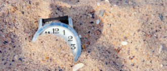 часы в песке