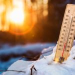термометр в снегу