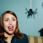 женщина увидела паука