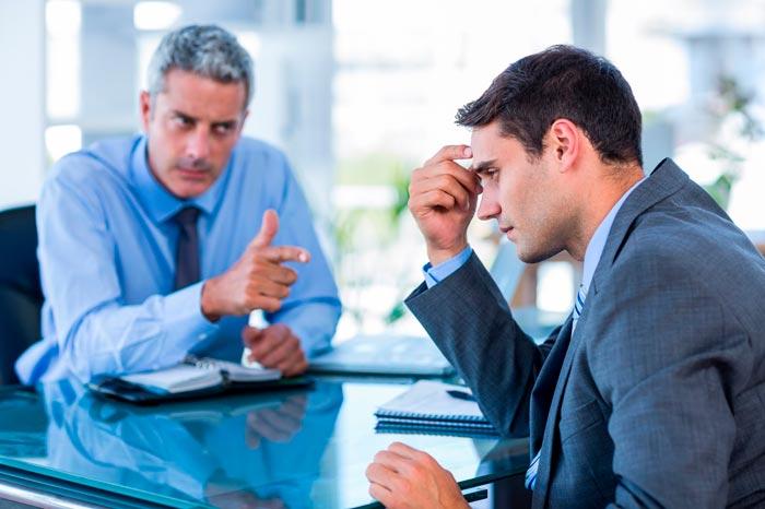 серьезный разговор на работе