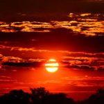 красное солнце