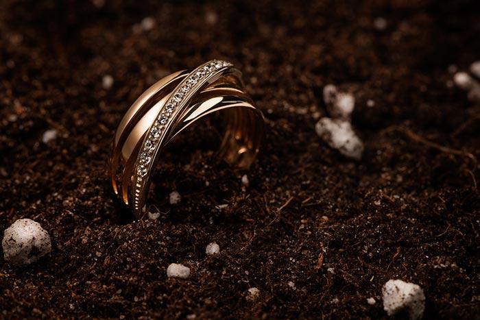 кольцо в земле