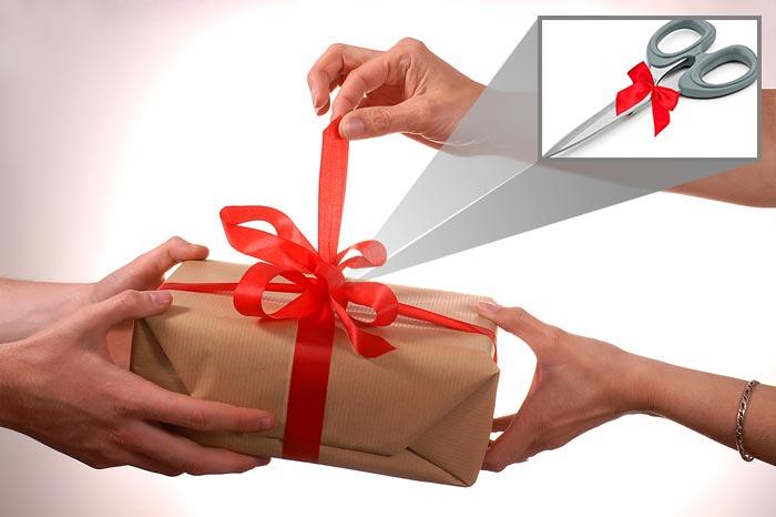 ножницы в подарок