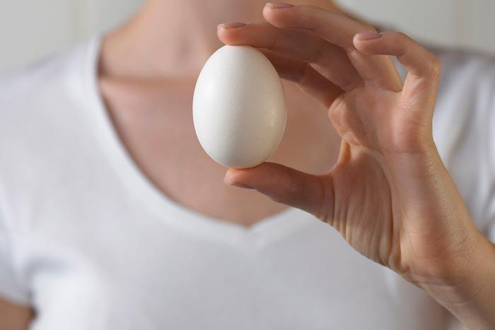 яйцо в руке