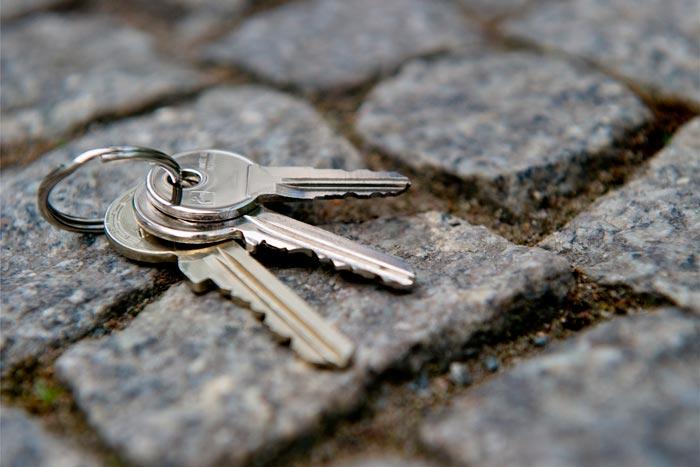 ключи на дороге