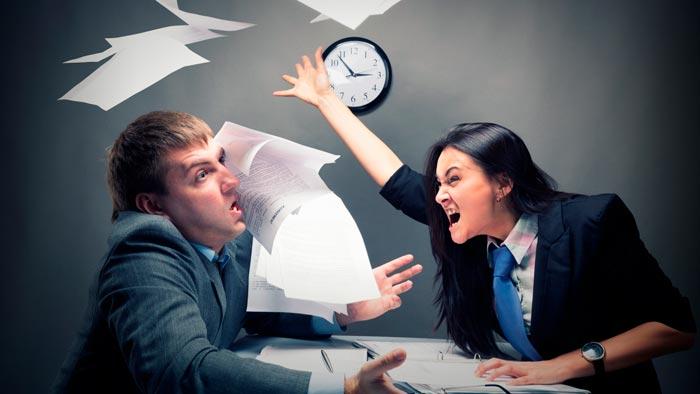 ссора на работе