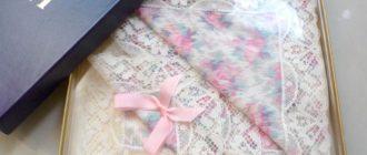 носовой платок в коробке