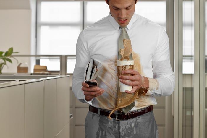 кофе на одежде