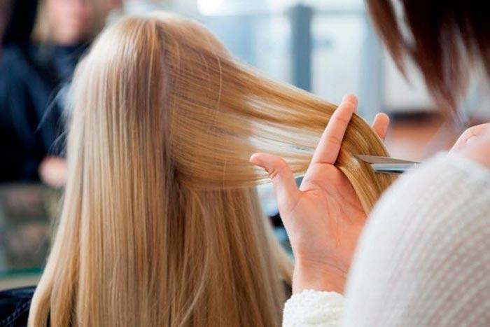 стрижка в парикмахерской