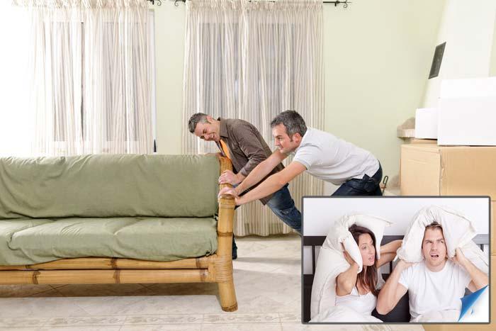 двигать мебель